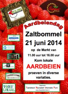 poster aardbeiendag 2014