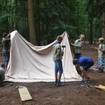 Het kampement opbouwen