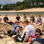 Strandspelletjes aan het Henschotermeer