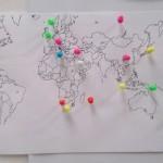 Gemaakte chatverbindingen over de hele wereld